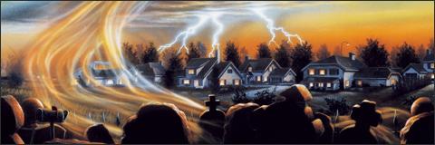 Cartel y crítica de la La divertida noche de los zombies 1988