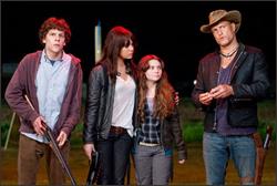 Jesse Eisenberg, Woody Harrelson, Emma Stone, Abigail Breslin en Zombieland
